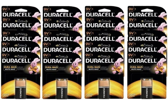 20 Pilhas Duracell Original 9v