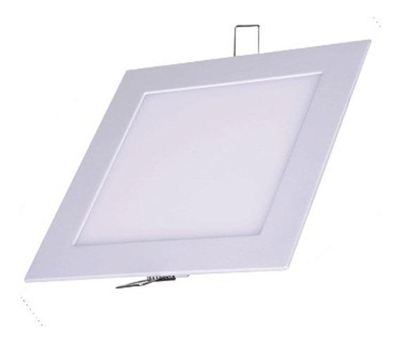 Kit 20 Luminárias Embutir Led Plafon 3w Quadrado Branco Frio
