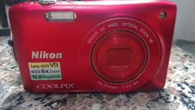 Camera Nikon 16.0megapixels Comcarregador E Cartaonde 4 Giga