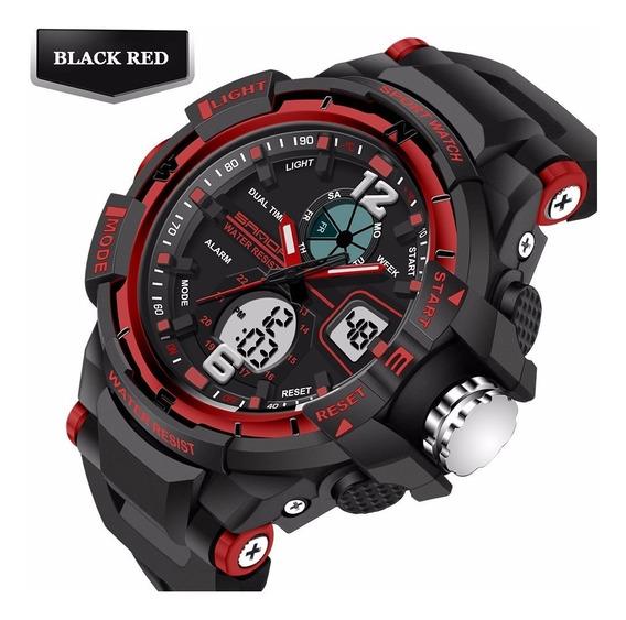 Relógio Esportivo Dual C/ Luz Led Cronometro Frete Grátis!!!