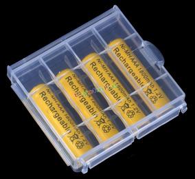 Pilha Recarregável Kit C/ 04 Pilhas Aaa + Case 1800mah