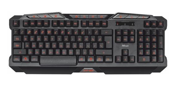 Teclado Gamer Trust Gxt 280 Abnt-2 Anti Ghosting Color Novo