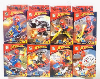 Lego Simil Bloques De Construcción Spiderman Hombre Araña X8
