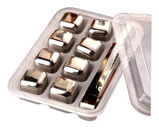 Juego de 2 Vasos de Whisky Bolsa Reutilizable 6 Piedras de Acero Inoxidable LordsFinest Caja de Madera