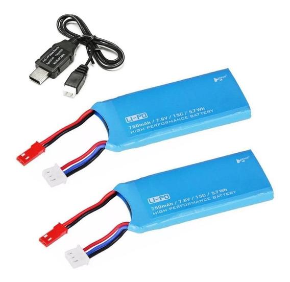 2 Baterias Hubsan H216a, H502e H502s - 750mah + Cabo + Envio