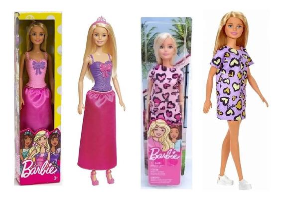 Barbie Coleção Bonecas 4 Pçs Original Mattel T7580