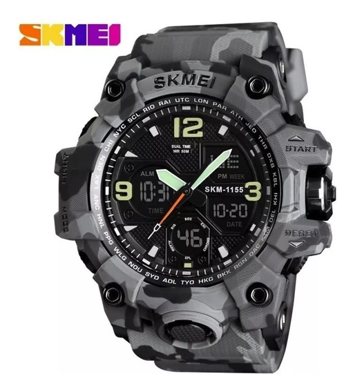 Relógio Masculino Militar Skmei 1155 A Prova D