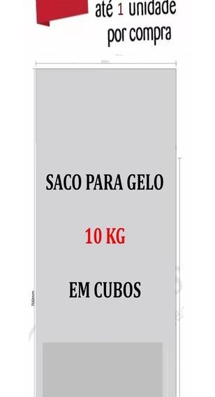 Embalagem P Gelo Em Cubos Transparente 10 Kg 14m C100 Unid