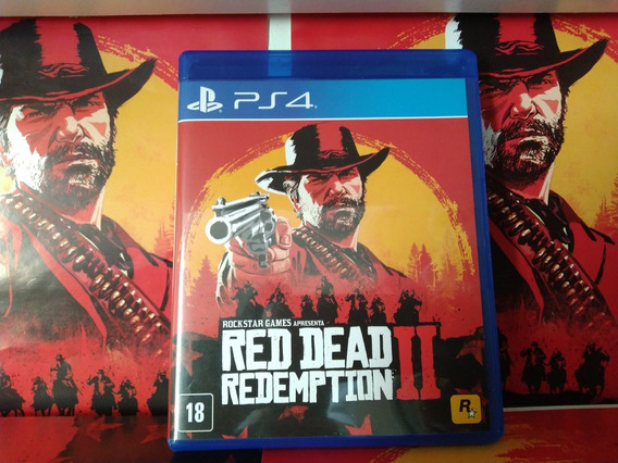 Red Dead Redemption Midia Fisica Usado Ps4 Playstation 4