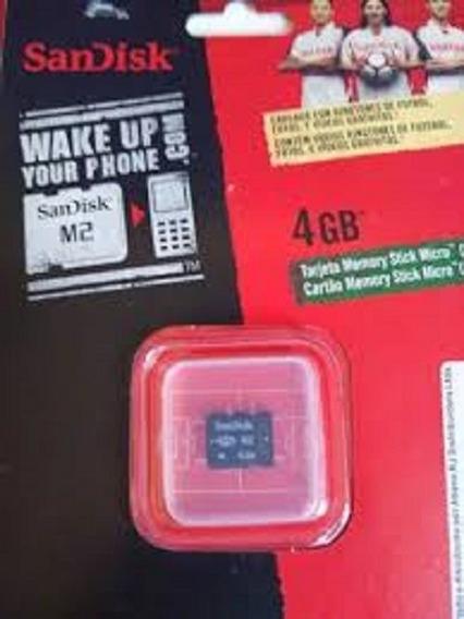 Cartão De Memória Memory Stick Micro M2 4gb - Sandisk