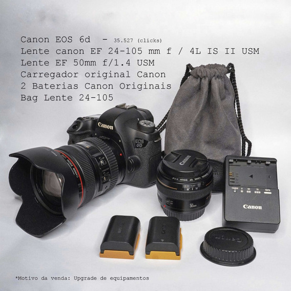 Canon 6d + Lente Canon 24-105 F4 + 50 1.4