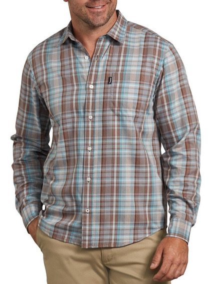 Camisa Dickies Wl531 Rxms Manga Larga Franela 100% Algodón