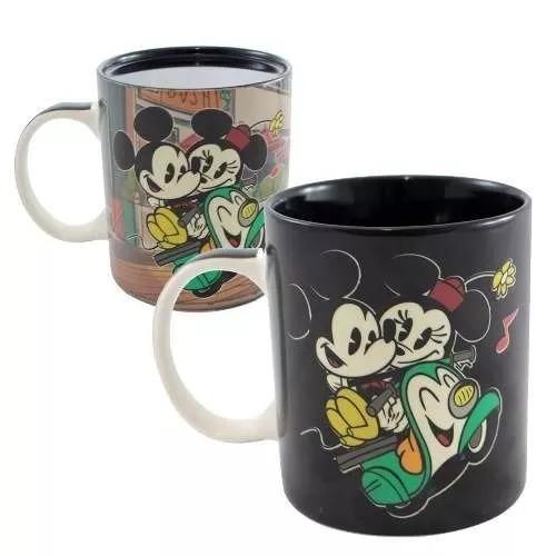 Caneca Mágica Mickey E Minnie Route Lamour 300ml
