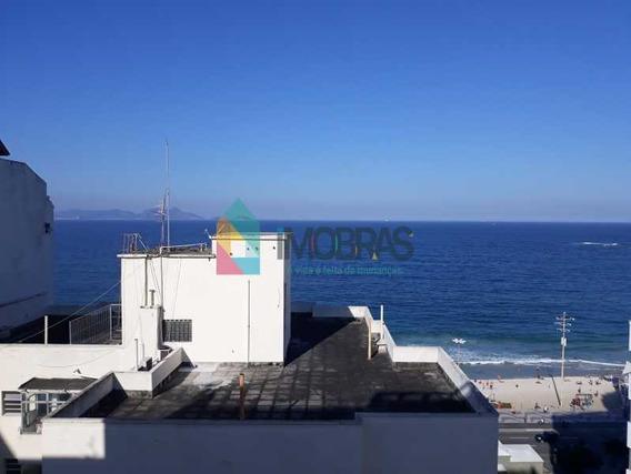 Cobertura Em Copacabana Linear Com 2 Vagas De Garagem Vista Mar!! - Cpco40042