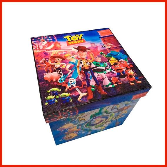 Estuche De Regalo Madera Toy Story 4 Caja 25x25x25cm