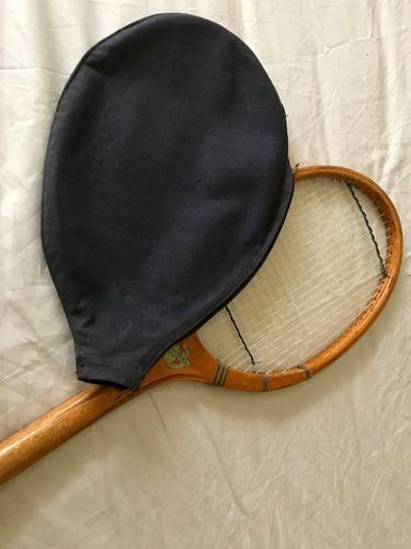 Antigua Raqueta Tenis Marca Mundial Con Funda