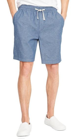 Short Hombre Jogger Flex Cintura Elástica Azul Old Navy