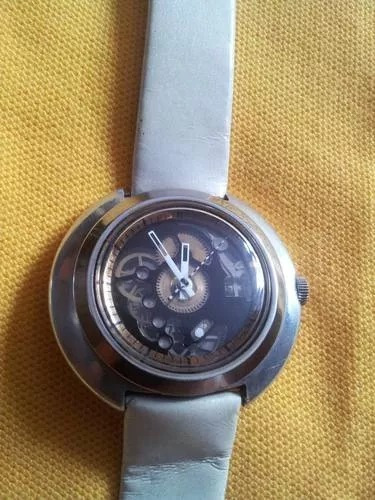 Reloj De Pulsera Vintage Suizo Skeleton