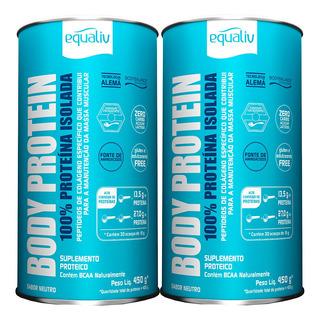 Kit 2 Body Protein 100% Proteína Isolada Neutro 450g Equaliv