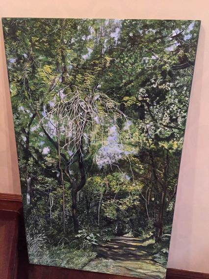 Pintura Al Oleo De 1 Mt X 60. Paisaje Misionero