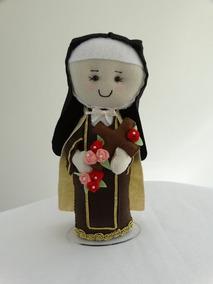 Santa Teresinha Em Feltro- Imagem Religiosa