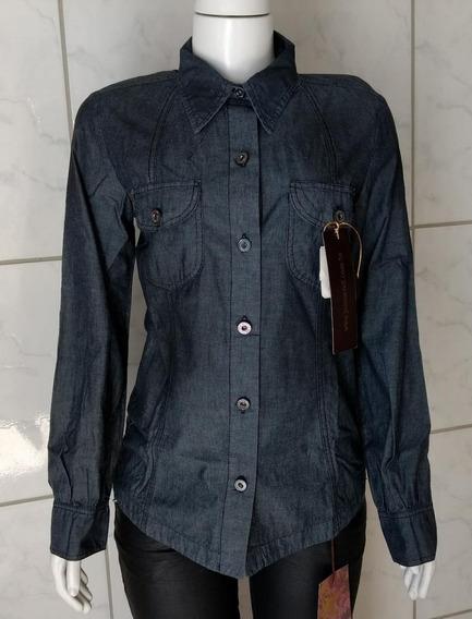 Camisa Social Jeans Da Civil - Tam: M