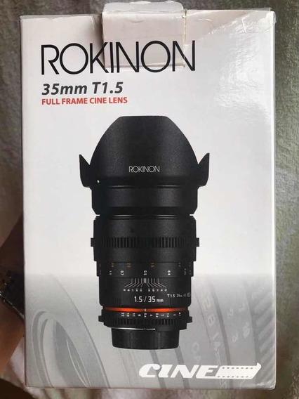 Lente Rokinon 35mm T1.5 Cine Ds Cameras Canon Ef Novíssima