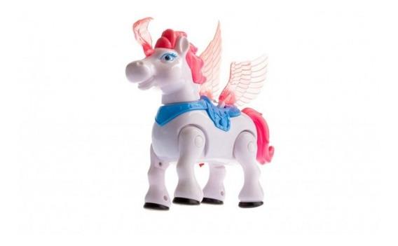 Unicornio Hermoso 20 Cm Alto Detalles De Calidad Pony A Pila