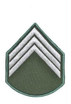 Divisa Bordada 3º Sargento Verde Oliva ( Par )
