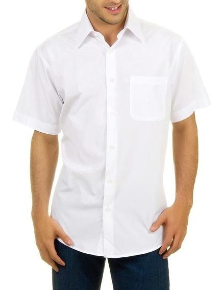 Camisa Masculina Manga Curta Gabardine