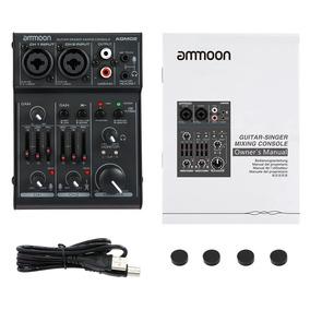 Mesa De Som Ammoon Agm02 2-canal Mixing Console Mixer De