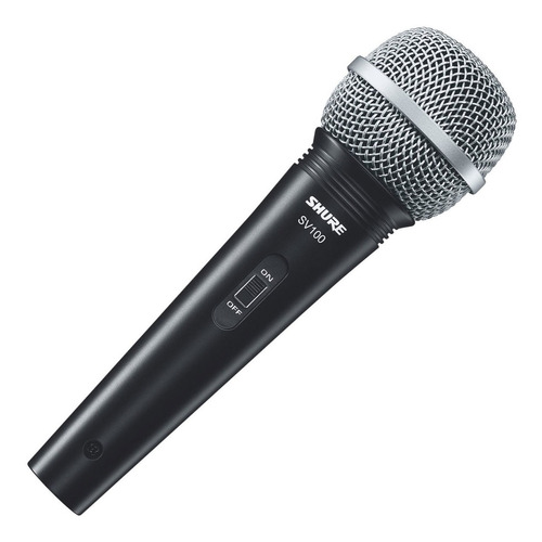 Micrófono Dinámico Vocal Shure Sv100 C/cable Xlr/plug