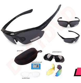 Gafas De Ciclismo Con Filtro Uv Incluye 3 Lentes + Kit