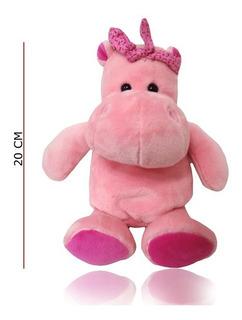 Hipopótamo De Peluche 20 Cm 2 Colores Ploppy 370426