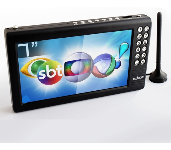 Mini Tv Digital Portatil 7 Isdb-t Full Hd Fm Usb Micro Sd