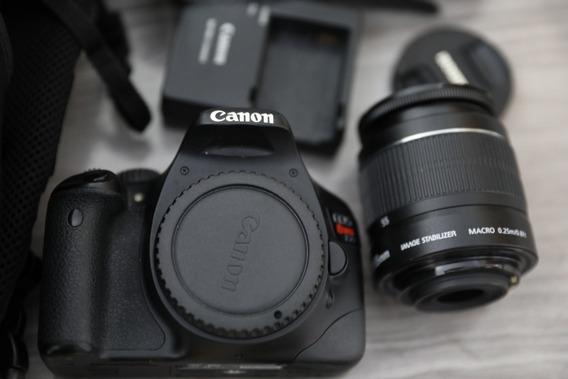 Câmera Canon T2i + Lente 18-55 Is 10 Mil Clicks
