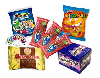 003 - Combo Golosinas Cumpleaños - Lollipop - 10 Chicos