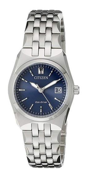 1 Reloj Eco Dri Mod Bm7330-59l -ó- Ew2290-54l Pareja Citizen