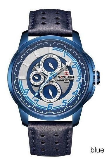 Reloj Naviforce Original 9142 Intrépido Hombre + Caja