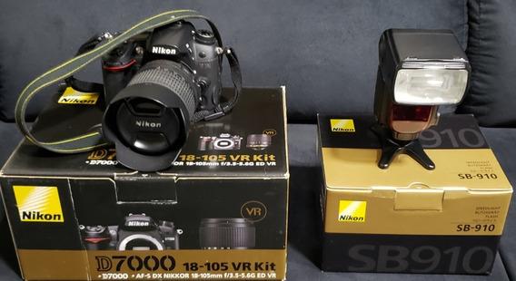 Nikon D-7000 18-105 Vr Kit + Sb-910