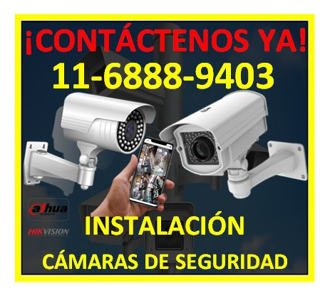 Imagen 1 de 10 de Instalación Cámaras De Seguridad