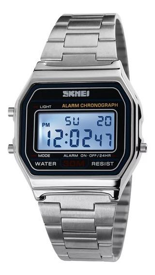 Relógio Digital Feminino Skmei 1123 Adultos Em Aço
