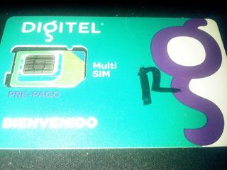 Tarjeta Sim 2g 3g Digitel Con Plan De 1gb