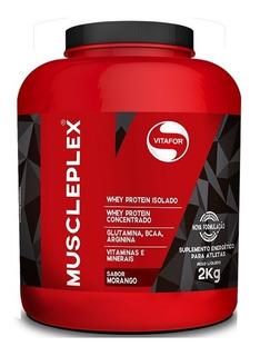 Hipercalórico Gainer - Muscle Plex - 2kg - Vitafor - Morango