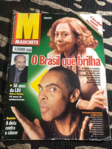 Manchete Gil Fernanda Montenegro Bethânia Close Márcia Porto