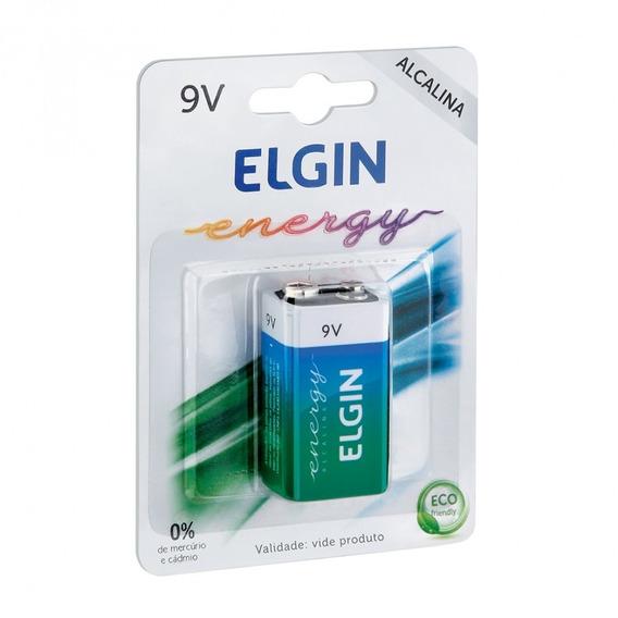 Bateria Alcalina Elgin 9v Blister 1 Unidade