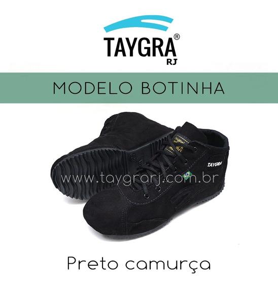 Taygra Botinha Preta Camurça Para Dança , Trilha E Capoeira
