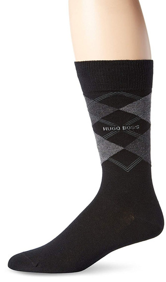 Hugo Boss Hombres S James Argyle Crew Sock...