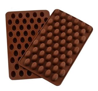 2 Moldes Para 55 Granos De Café Cubiertos De Chocolate C/u