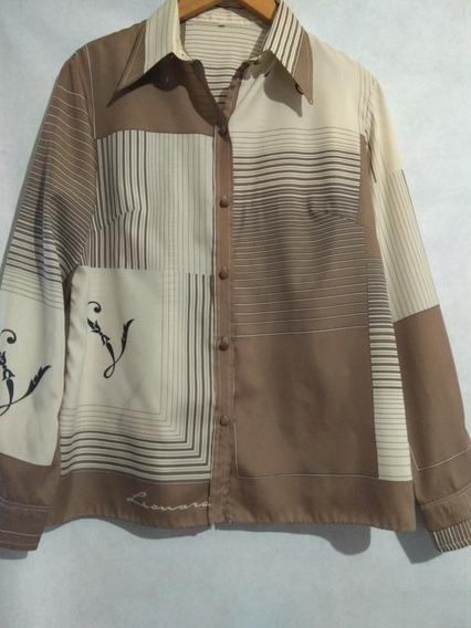 Camisa De Seda Estampada Leonard